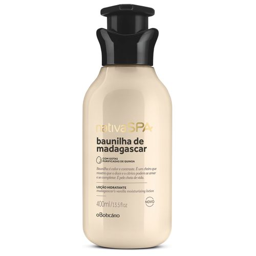 Nativa Spa Madagascar's Vanilla Moisturizing Body Lotion, 400ml | 13.5 fl.oz
