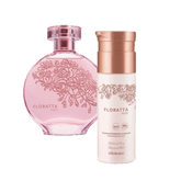 Floratta Rose Set | 01 Floratta Rose Eau de Toilette, 01 Moisturizing Body Lotion
